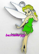 20 Pcs Cartoon Tinkerbell Metal Charms Jewelry Making pendants Party Gifts 02