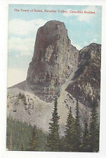 Canada Rockies Paradise Valley Tower of Babel Vtg Postcard