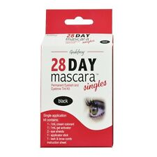 Single Black Godefroy 28 day mascara Permanent Eyelash and Eyebrow tint Kit