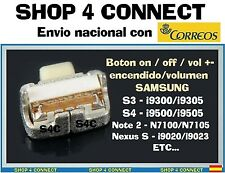 BOTON de ENCENDIDO ON/OFF POWER VOLUMEN SWITCH BUTTON para SAMSUNG S3 S4 NEXUS 5