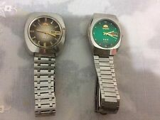 Pair Of 2 Vintage ORIENT Stainless Steel Automatic Wristwatches. Made In Japan!
