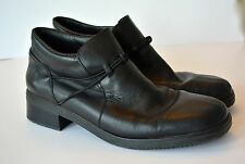 RIEKER Ankle Boots EU 42 US Size 10.5 11 Black Leather Booties Riding Womens #cl