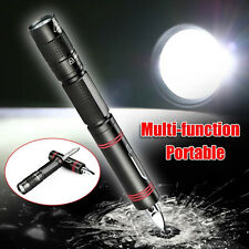 CREE XPE Q5 LED Multifunction Flashlight Torch Tactical with Pen Knife Camp