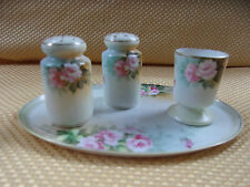 Vintage Nippon Salt And Pepper Shakers And Toothpick Holder On Tray
