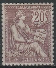 "FRANCE STAMP TIMBRE 126 "" MOUCHON 20c BRUN LILAS 1902 "" NEUF xx LUXE  M578"