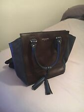 Coach Brown And Navy Leather Purse