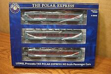 LIONEL 6-58019 THE POLAR EXPRESS HO SCALE PASSENGER CAR SET 3 Pack