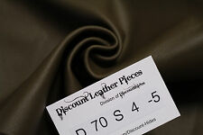 Barefoot Brown Leather Cowhide Remnant Appx 1.5 sqft D70S4-5