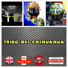 Valentino Rossi Tribu Dei Chihuahua Visor Helmet Decal Sticker 150mm F529