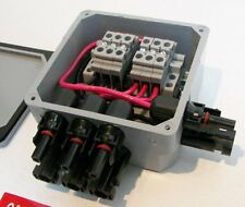 Pre-wired Solar Power Combiner/Terminal Box  - 3-String Solar Panel Combiner
