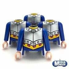 playmobil® 4 x Oberkörper mit Arme | blau | silber | gelb | Spanier | Ritter