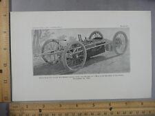 Rare Antique Orig VTG Riker Electric Racing Automobile Photogravure Art Print
