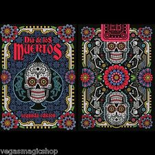 Dia de los Muertos Black Unbranded Deck Playing Cards Poker Size USPCC 2nd Ed.