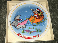 SCHMID Disney 1978 THE NIGHT BEFORE CHRISTMAS Wall Plate MICKEY MOUSE & DUMBO