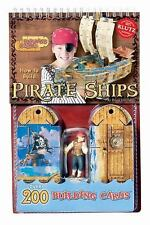 Pirate Ships 3D Puzzle Building Cards Klutz Figure Toy Game Boat Treasures Theme