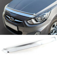 Chrome Bonnet Hood Guard Garnish K896 For HYUNDAI 2011-2016 Solaris Accent Verna