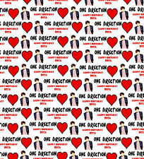 Personalised Gift Wrapping Paper Music ONE DIRECTION LOUIS Birthday Any Name!