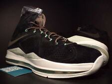 Nike Air Max LEBRON X 10 EXT QS BLACK SUEDE MINT GREEN WHITE BROWN 607078-001 10
