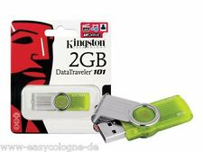 Kingston USB Flash Drive DataTraveler 101 G2 2GB Limette - Grün  (DT101G2/2GB)