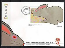 MACAO/MACAU - SGMS1082 YEAR OF THE RABBIT 8/2/99 FIRST DAY COVER - FDC