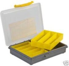 Plástico 2 Bandeja 8 compartimiento de Almacenamiento para Organizador Caja Artesanal De Pesca tornillos remaches
