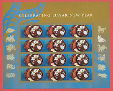 US Lunar New Year: Year of the Ram Stamps Full Sheet ~Die Cut~ 2015