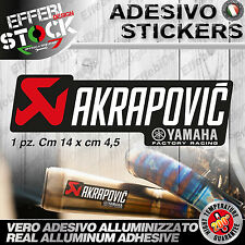 Adesivo / Sticker AKRAPOVIC YAMAHA FACTORY RACING 200°gradi EXAUST TOP QUALITY !