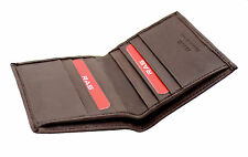 MENS SOFT REAL LEATHER ULTRA SLIM MINI CREDIT CARD NOTE CASE WALLET - BROWN 122