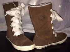 Converse All Star Chuck Taylor High Top Womens Sz 5 Brown /Fleece Lined Sneakers