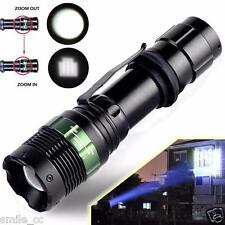 5000 Lumen Con Zoom Cree XML T6 LED 18650 Linterna Focus linterna Zoom Lámpara