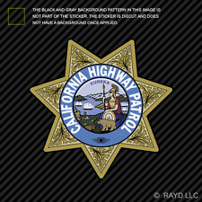 California Highway Patrol Seal Sticker Decal Self Adhesive Vinyl CHP chips
