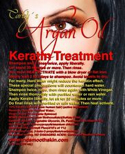 KERATIN Hair Treatment. With Real Virgin Argan Oil as primary ingredient.