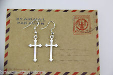 HOT Wholesale Lady 12Pair Charm Fashion Jewelry Silver Cross Earrings