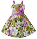 Sunny Fashion Girls Dress Purple Flower Party Pageant Child Clothes Size 6-14