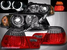 00-03 BMW E46 2DR HALO PROJECTOR HEADLIGHTS+CORNER LIGHTS + LED TAIL LIGHT R/S