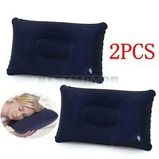 2x Air Travel Camping Inflatable Pillow Cushion Sleep Rest Head Neck Support New