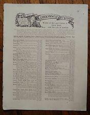 Auténtico antiguos 1902 impreso doble cara anuncio Hoja-Cooper Sellos/regstr