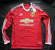 MANCHESTER UNITED home LONG SLEEVE shirt jersey ADIDAS 2015-2016 adult SIZE XS