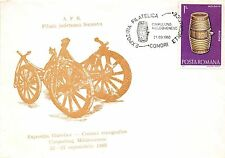 B3387 Entier Postaux Postal Cover Suceava Campulung Artisanat front/back scan
