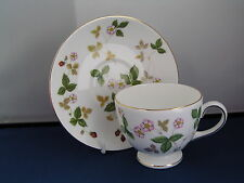 WEDGWOOD WILD STRAWBERRY LEIGH SHAPED CUP AND SAUCER, NEW, 2nd.