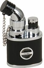 Fujima Adjustable Flame Refillable Butane Mini Pocket Cigar Jet Torch Lighter