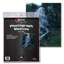"Photo Holder Sleeves 8""x10"" 100 Count Pack [NEW] Case PIcture Cover Pic BCW"