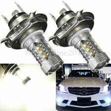 2x H4 9003 HB2 80W LED Blanco Bombilla DRL Fog Bulb Headlight High Low Beam