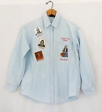 Vtg 80s Wizard Of Oz Warner Bros Denim Button Down Shirt Retro Grunge M Womens