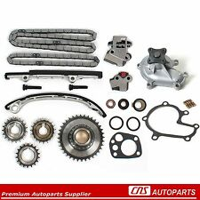 Timing Chain Gear Kit + Water Pump for 98-01 Nissan 2.4L Altima KA24DE Engine