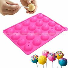 Silicone Lollipop Mold Party Cake Chocolate Cookie Pop Mould Baking Tray Stick