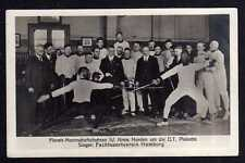 94922 AK Turn und Sportfeste um 1925 Florett Fechten Fechtsportverein Hamburg