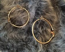 Alexis Bittar Gold & Gunmetal Hoop Earrings