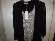 SIZE 14 BLACK MIX PER UNA CARDIGAN AND TOP SET MARKS AND SPENCER 45.00