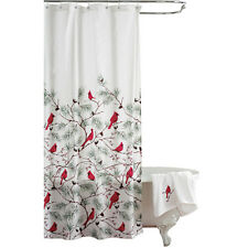 Cardinal Holiday Shower Curtain, by Collections Etc